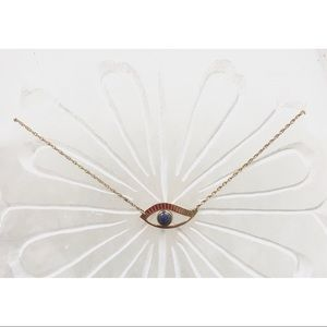 Jewelry - Gold Plated Evil Eye Necklace